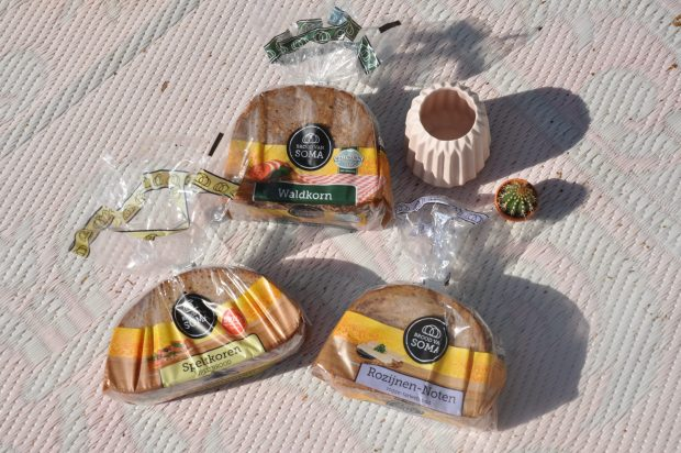 Ik kreeg 3 smaken roggenbrood van Soma toegestuurd om te proeven.