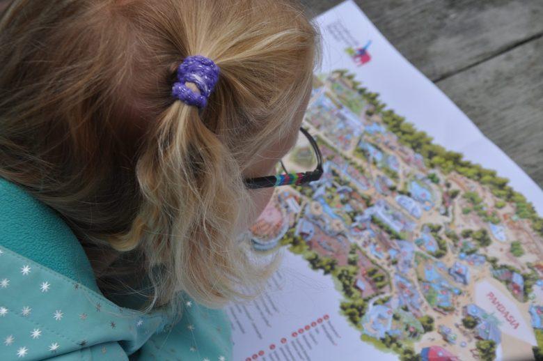Even de plattegrond besturen om te kijken waar we naartoe moeten.