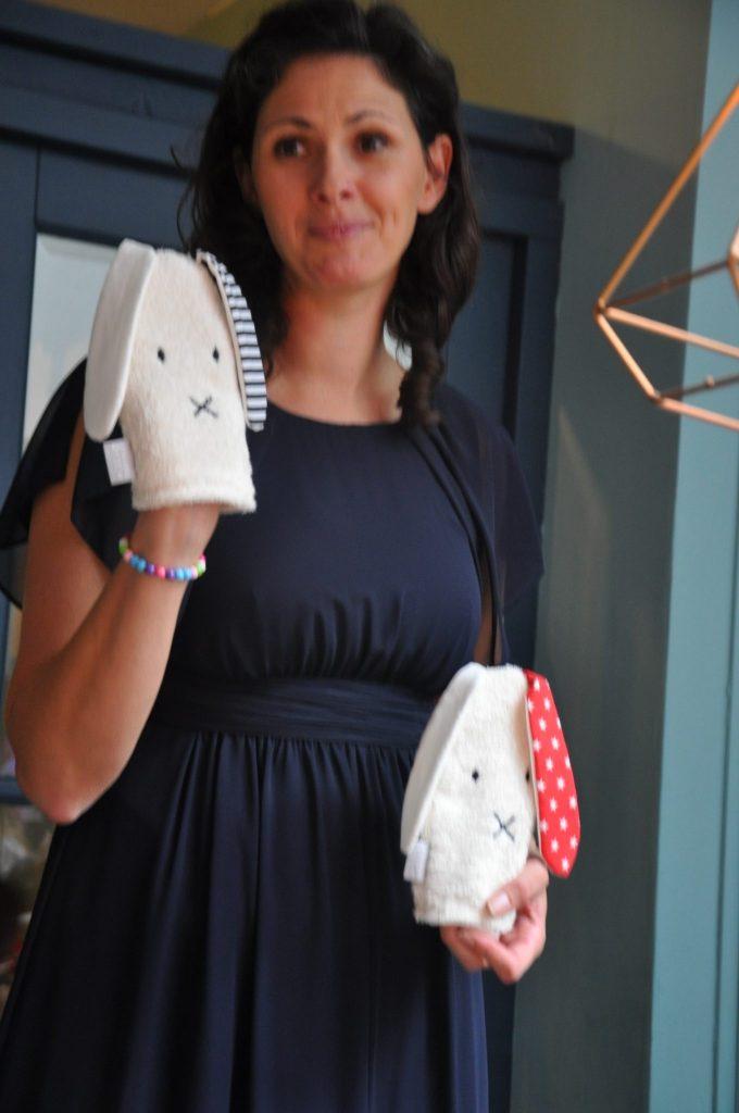 Dieke de Haas werkt voor haar merk Loverock samen met biokatoenmerk 4NaturalKids, dat deze leuke washandjes heeft ontworpen.