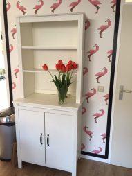 flamingo behang kek amsterdam