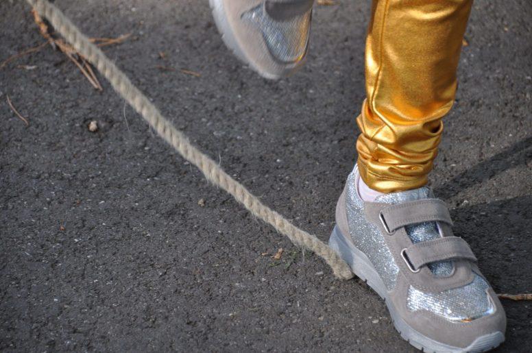 zilver naturino en gouden legging