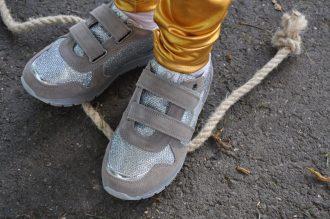 zilveren sneakers van naturino
