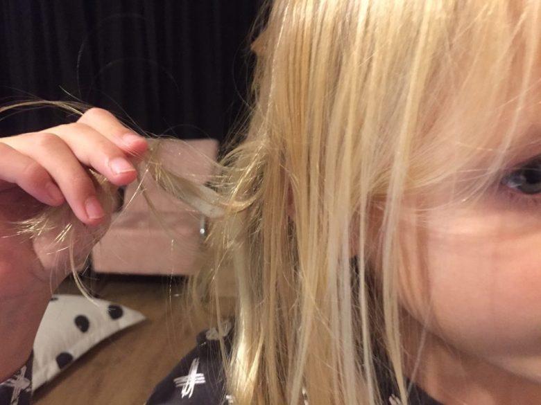 slijm in het haar