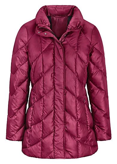 peterhahn lange watte jas rood