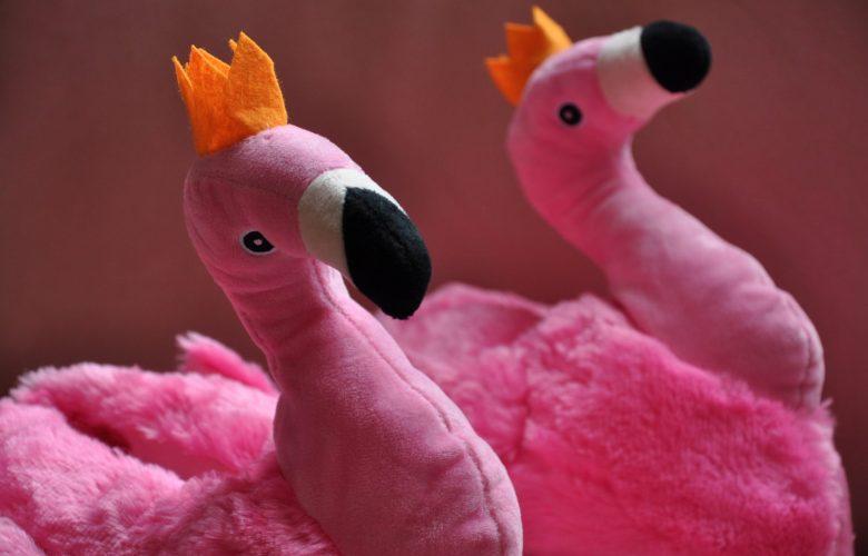 megagadgets schoplog flamingo pantoffels