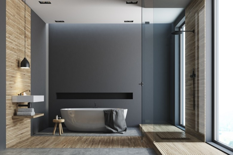 donkere badkamer inloopdouche