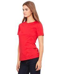 Red Cotton Plain T-Shirt for Women1