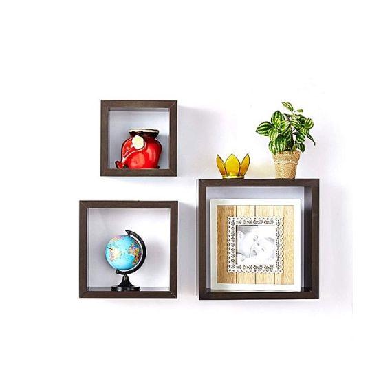 square shaped wall shelf 0