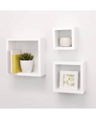 3 wall mounted shelf in white