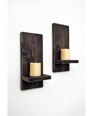 Wooden Wall Sconces For Candles