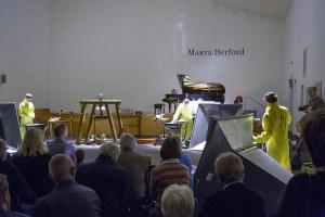 Das 1. Deutsche Stromorchester bei seinem Auftritt zur Kulturnacht im Marta Forum
