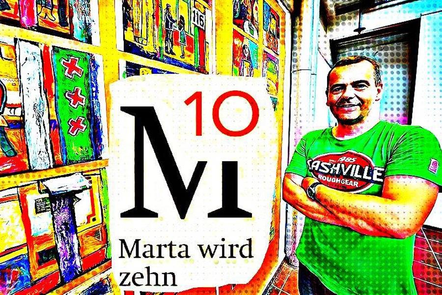Abbildung eines #Martawird10-Selfies