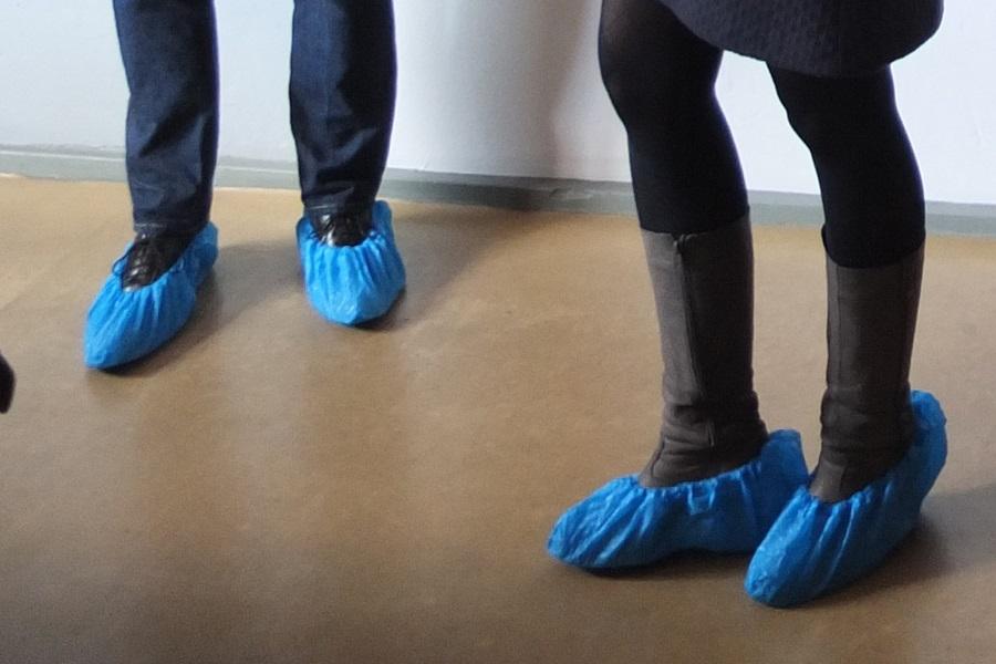 Schuhüberzieher im Rietveld Schröder Haus