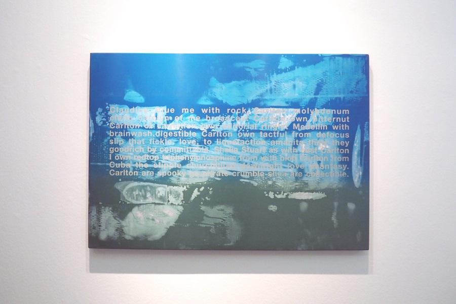 """Abbildung von dem Werk """"Delfin"""" von Johannes Wohnseifer in der Marta-Ausstellung """"Grün stört"""""""