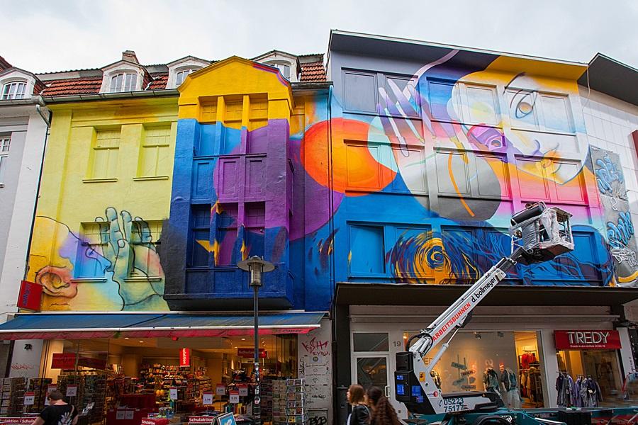Foto von Maliks Projekt in der Herforder Innenstadt