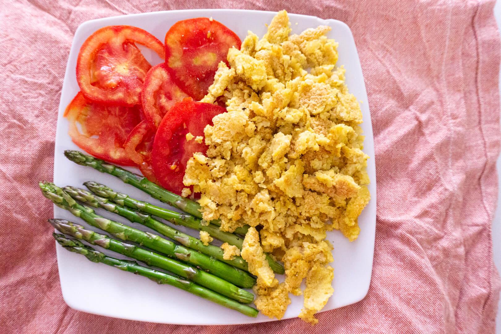 huevos revueltos veganos. Marta Atram