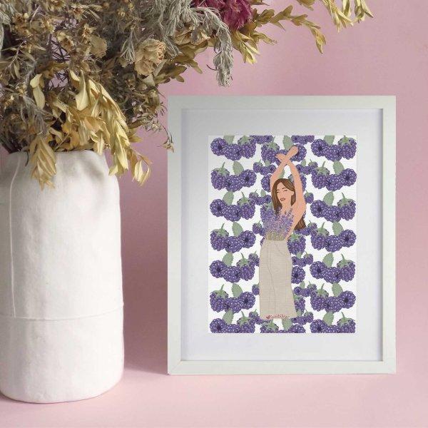 lamina para decorar con frutas y flores