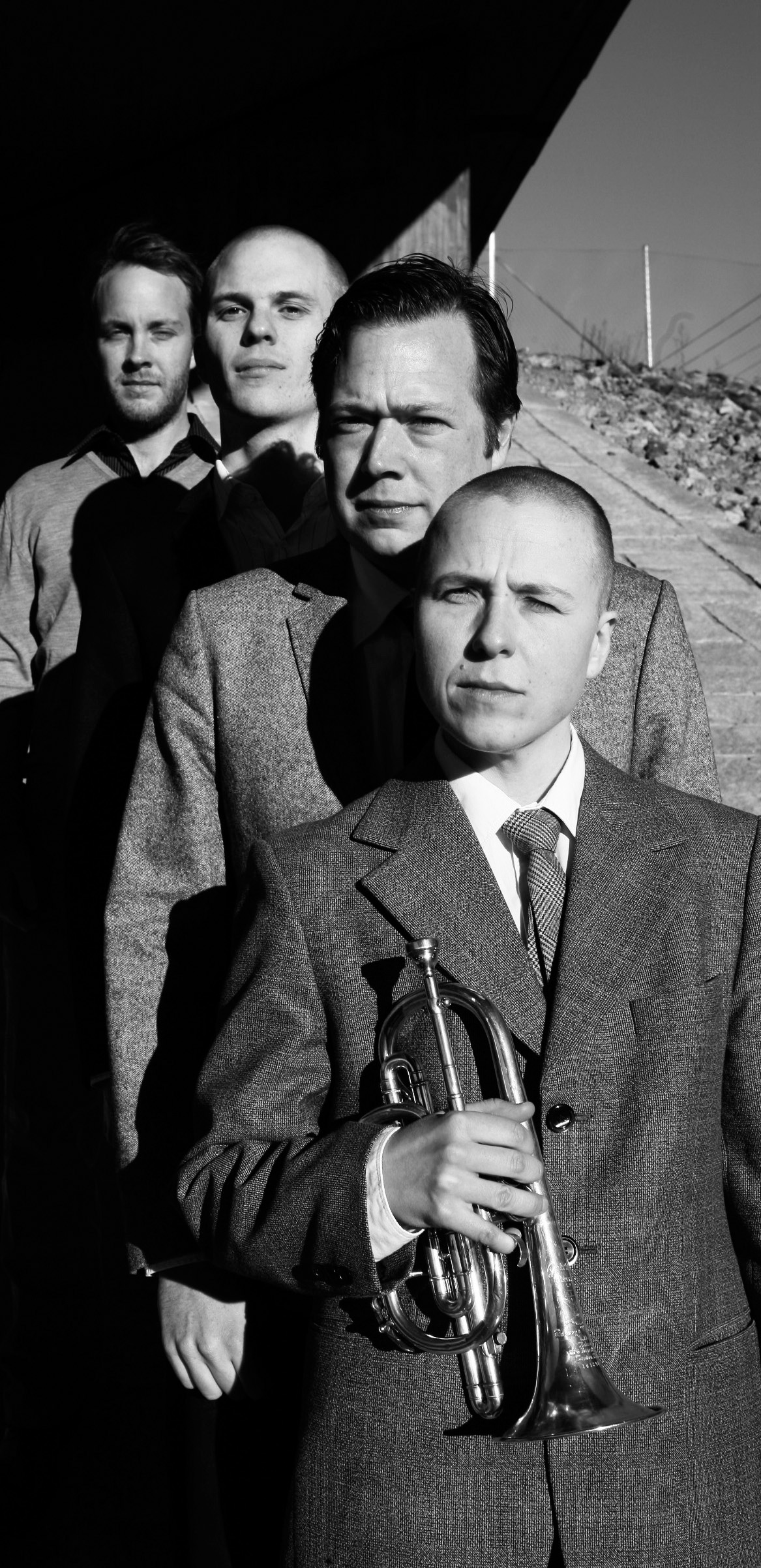 Nina Ramsby (foran) med Ludvig Berghe Trio