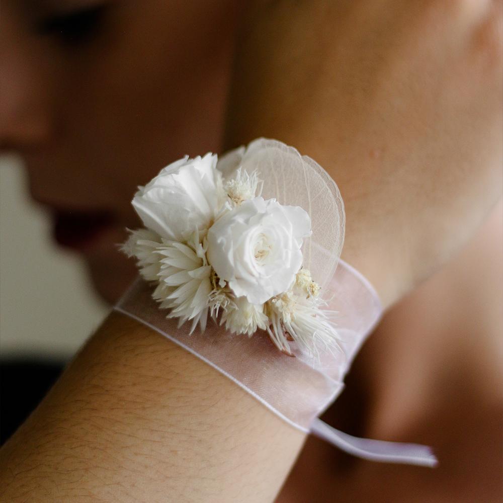 pulsera flores boda novia MartaMajo Flors