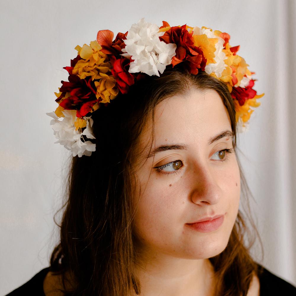 diadema Julia Floral novia MartaMajo Flors