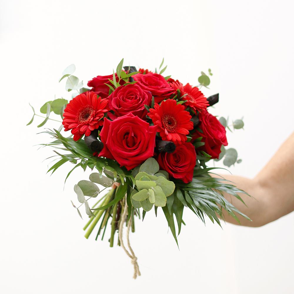 RAMO ROSAS rojas i gerberasMartaMajo Flors