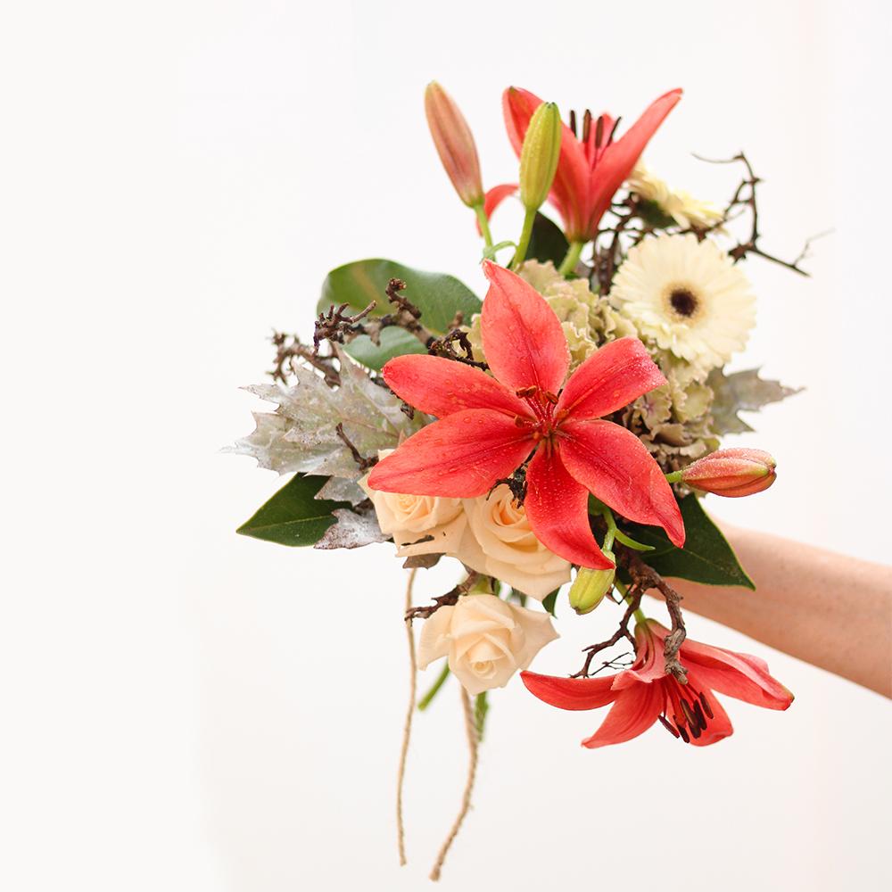 ramo flores rosas martamajo flors natural arte floral color