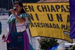 Mujeres marchan contra la violencia en Chiapas