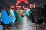 21 de diciembre de 2012. Zapatistas marchan, en silencio en San Cristobal de las Casas, Chiapas. Foto: Marta Molina