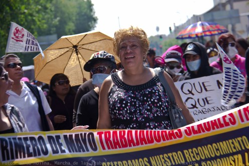 Trabajadoras sexuales salen a marchar en la Ciudad de México para reivindicar sus derechos en el Día Internacional del Trabajo