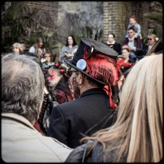 2016 Jack in the Green Black Morris Dancer in Crowd With Feather small
