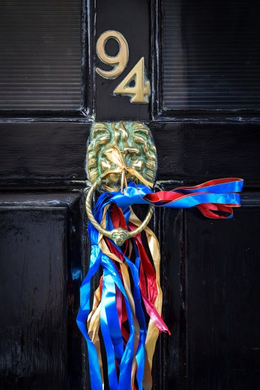2016 Jack in the Green Ribboned Lion Door Knocker small