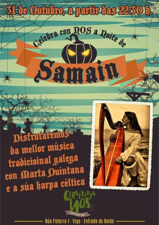 Concerto Samain de Marta Quintana na Cervecería Nos de Vigo