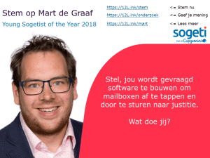 Mart de Graaf Young Sogetist of the Year