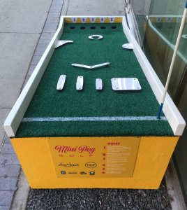 Top view of Mini Peg Golf Hole 7 at Alt Hotel