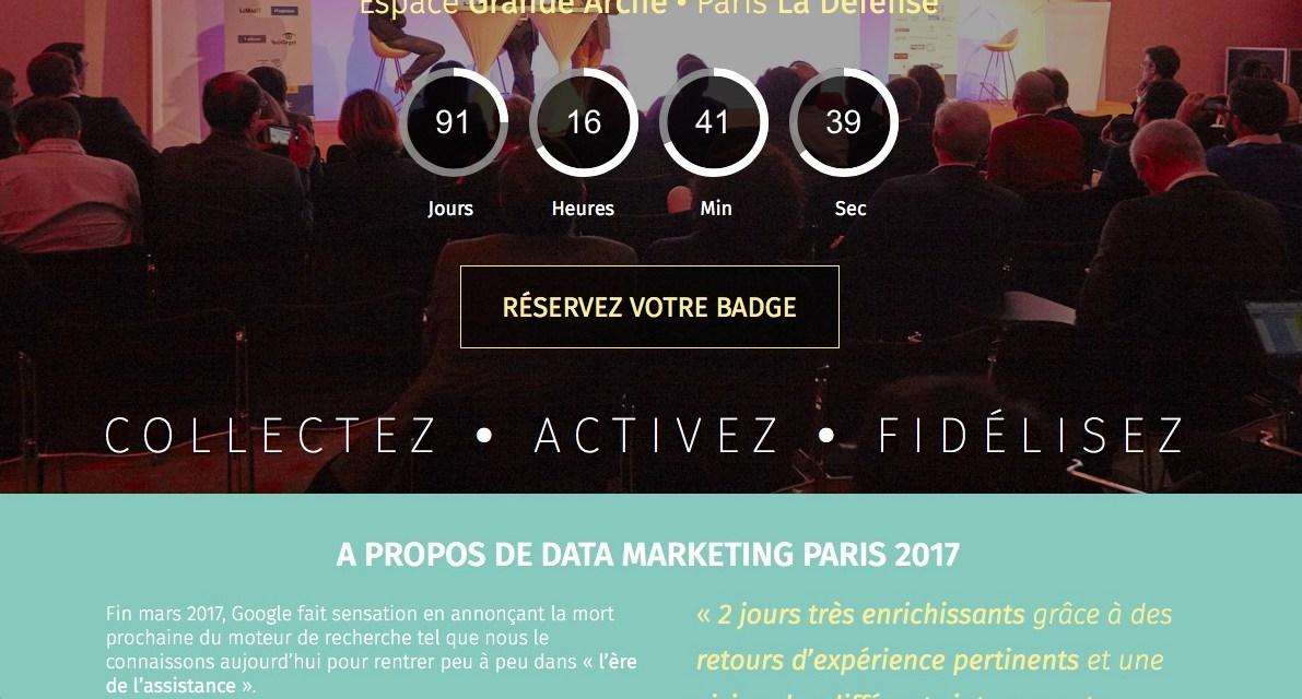 Le Data Marketing Paris se prépare à vous accueillir les jeudi et vendredi 17 novembre 2017