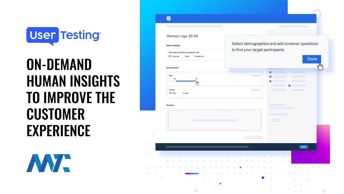 UserTesting: On-Demand Human Insights to Improve the Customer Experience