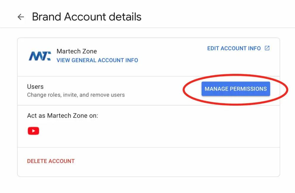 Gérer les autorisations de marque dans Google pour YouTube