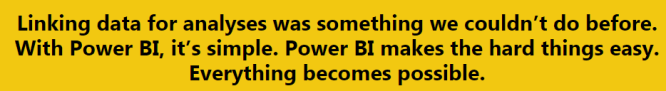 via Microsoft Power BI