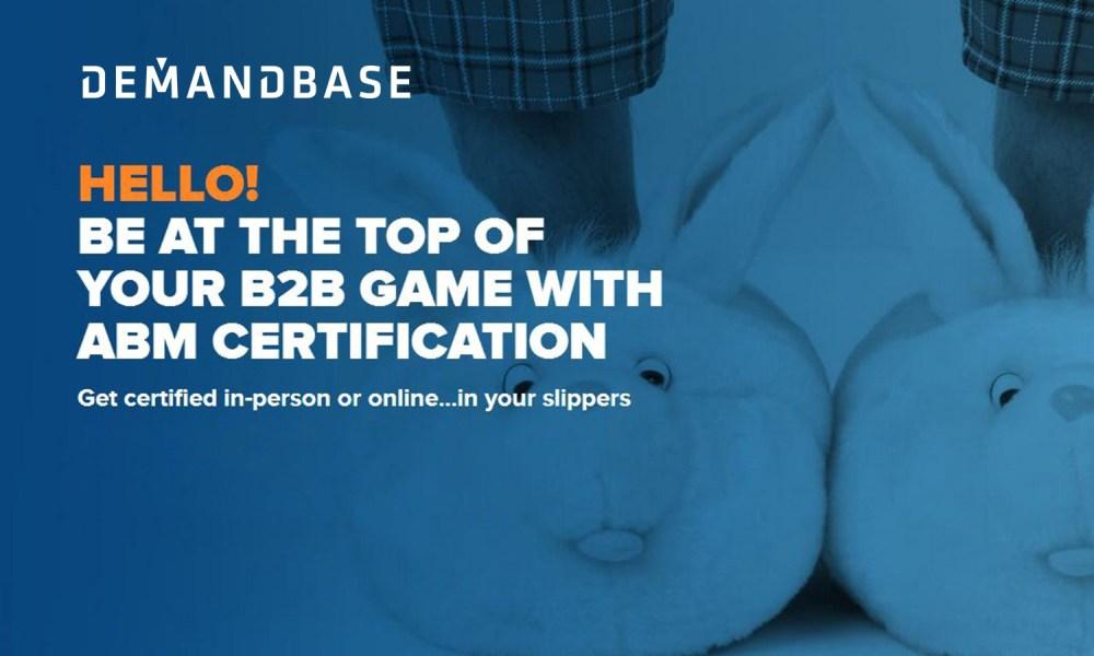 Demandbase Expands Online ABM Certification Program for B2B Marketers