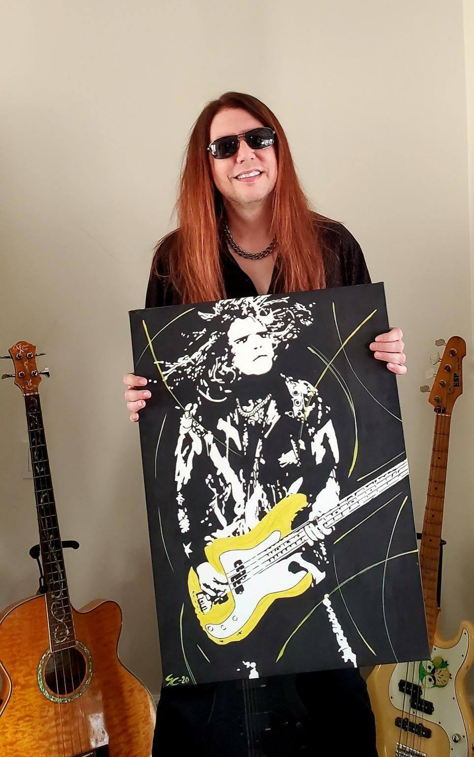 Check out this incredible piece of artwork (no, not the human one!) that was created by Black Rose Art and Design! #FanArtFriday #BlackRoseArtandDesign #martenandersson #mårtenandersson #martenanderssonbass #steelheart #fromclassicaltorock #lizzyborden #starwood #lynchmob #espguitars #ebssweden #emgpickups #daddariostrings #babicz #hipshot #intune #bassist #bassplayer #bassistsaresexy #swedesaresexy #rockstar #bassgod #metal #rockandroll #musician