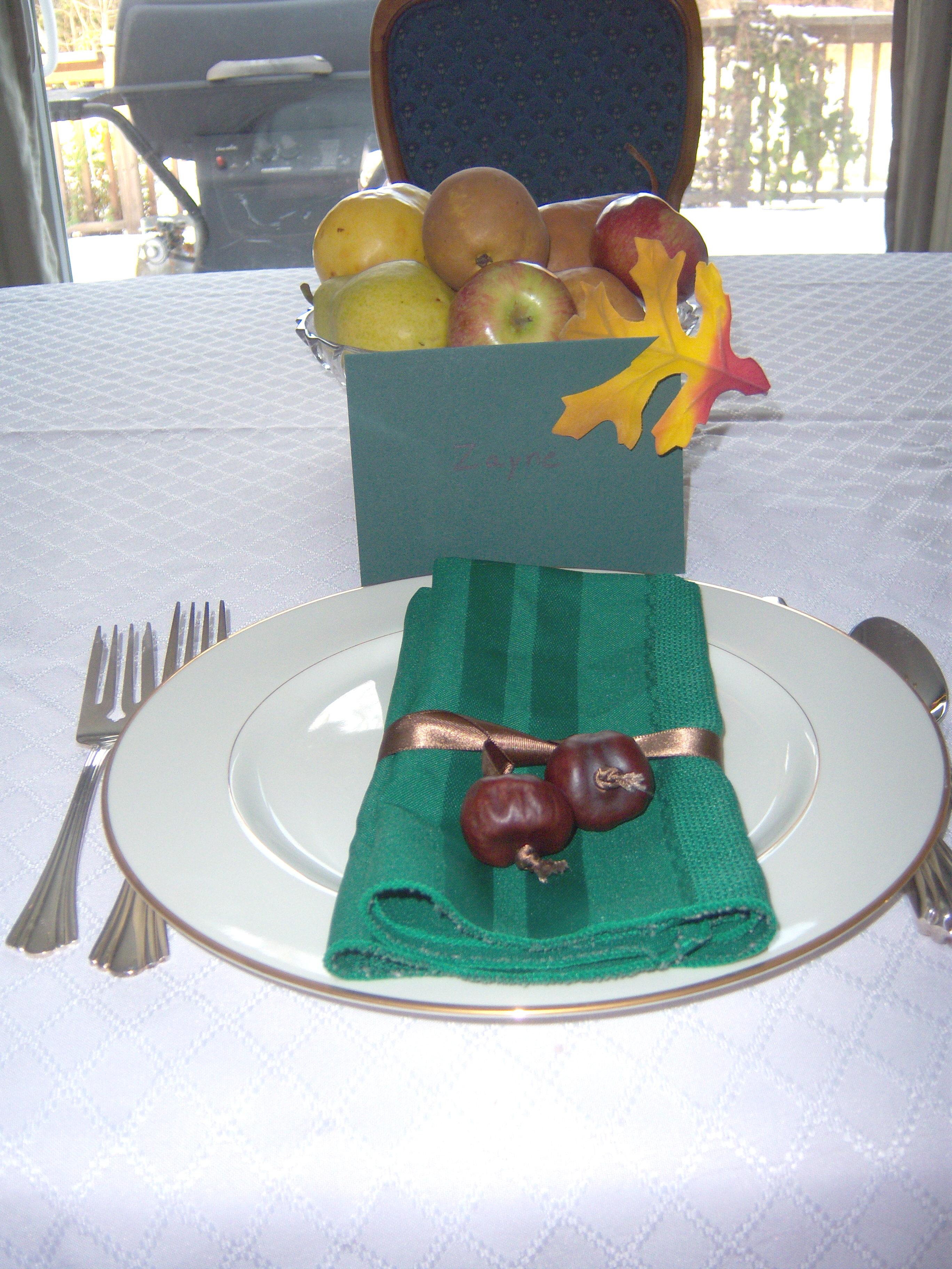 Table setting a la Martha