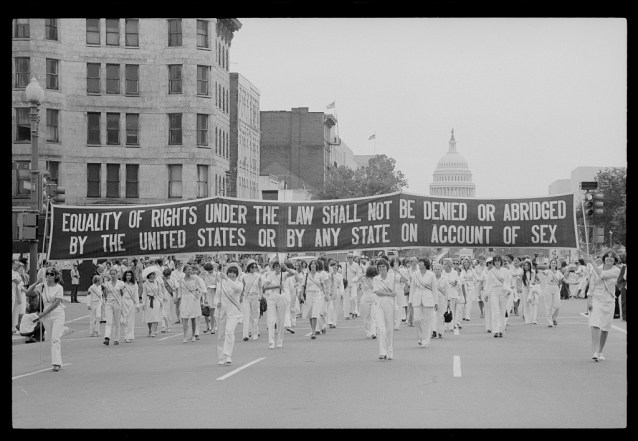 The first Women's Rights Parade in New York City on August 26, 1977