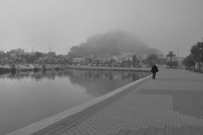 Mañana de niebla triste en Dénia Martha Lovera