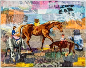 Martha Ressler Distracted Riding, 15.5 x 19.25""