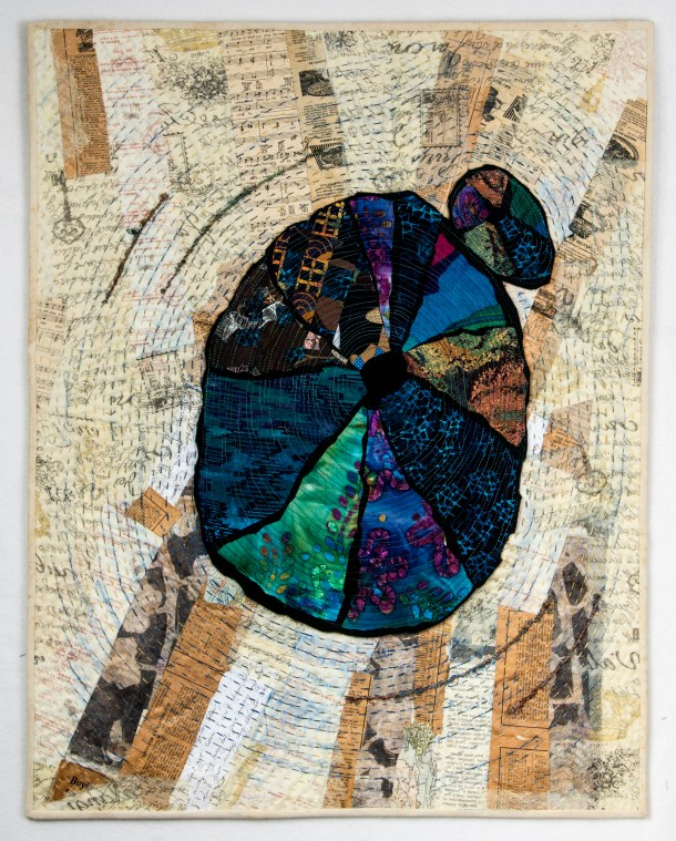 Martha Ressler, Counting the Years, Art Quilt, 30.25 x 24""