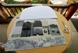 On the Avenue at 80% complete, plein air