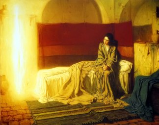 """""""The Annunciation"""" -- Henry Ossawa Tanner, 1898"""