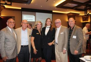 From left to right: Steve Brown, Councilmember, City of Coachella; Sabby Jonathon, Mayor, City of Palm Desert; Kimberly Muzik, Mayor, City of Indian Wells; Jan Harnik, Councilmember, City of Palm Desert; Dan Dunlap, Martha's Village & Kitchen Board of Directors, Glenn Miller, Councilmember, City of Indio