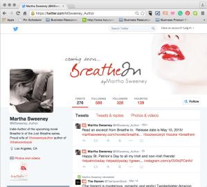 author Martha Sweeney on Twitter