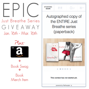 The Just Breathe Series by Martha Sweeney Epic Giveaway